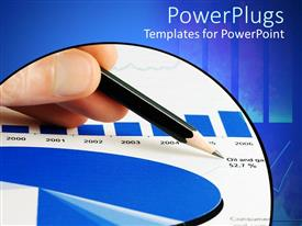 PowerPlugs: PowerPoint template with the depiction of a graph including oil and gas prices over the years
