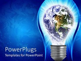 PowerPlugs: PowerPoint template with the depiction of an idea changing the whole world