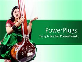 PowerPlugs: PowerPoint template with the depiction of an Indian singer playing an instrument