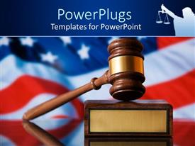 PowerPlugs: PowerPoint template with the depiction of justice system in America