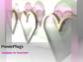 PowerPlugs: PowerPoint template with depiction of love with animatedheart symbols