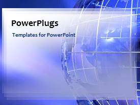 PowerPlugs: PowerPoint template with a depiction of a moving background of blue color with globe