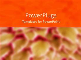PowerPlugs: PowerPoint template with depiction of an orange surface with blurry red background
