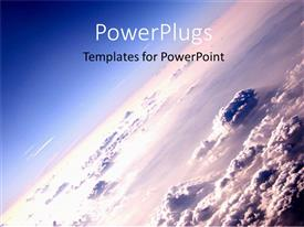 PowerPoint template displaying the depiction of the outer space of the planet Earth