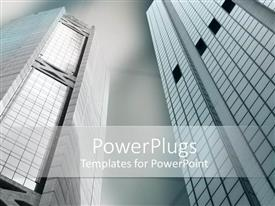 PowerPlugs: PowerPoint template with depiction of a plain ash colored background with houses