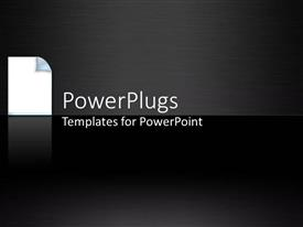 PowerPlugs: PowerPoint template with depiction of plain black tile with a pain sheet