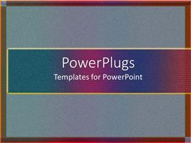 PowerPoint template displaying depiction of a plain blue and brown background board