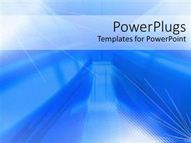 PowerPlugs: PowerPoint template with depiction of  a plain blue and white background block