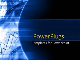 PowerPlugs: PowerPoint template with depiction of a plain blue and white background board