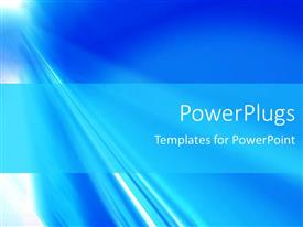 PowerPlugs: PowerPoint template with depiction of a plain blue and white shiny background surface