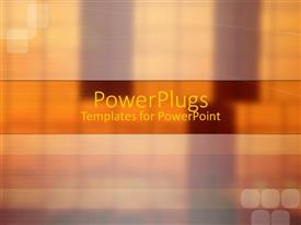 PowerPlugs: PowerPoint template with depiction of  a plain brown and gold background block