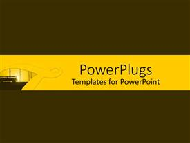 PowerPoint template displaying depiction of a plain brown and yellow background board