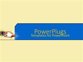 PowerPlugs: PowerPoint template with depiction of  a plain cream colored background with a lady
