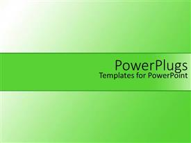 PowerPoint template displaying depiction of plain green and white shiny colored surface tile