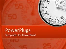 PowerPlugs: PowerPoint template with depiction of a plain orange background with a stop watch