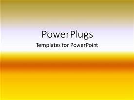 PowerPlugs: PowerPoint template with depiction of a plain orange and white background board