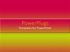 PowerPlugs: PowerPoint template with depiction of a plain pink, orange and yellow tile surface