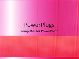 PowerPoint template displaying depiction of a plain pink and white background board