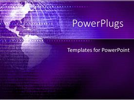PowerPlugs: PowerPoint template with depiction of a plain purple background with purple globe