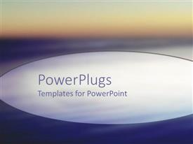 PowerPlugs: PowerPoint template with depiction of  a plain purple and white background block