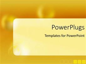 PowerPoint template displaying depiction of a plain shiny orange surface background tile