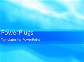 PowerPoint template displaying depiction of a plain sky blue and white background surface