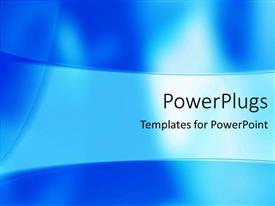 PowerPlugs: PowerPoint template with depiction of a plain sky blue and white background surface
