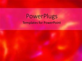 PowerPoint template displaying depiction of a plane red board with a blurry figure underneath