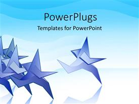 PowerPlugs: PowerPoint template with depiction of race with blue paper people
