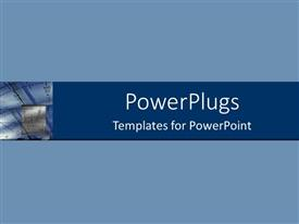 PowerPlugs: PowerPoint template with depiction of a solid blue background with a graph