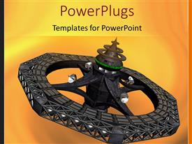PowerPlugs: PowerPoint template with depiction of space station with four space ships