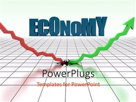 PowerPlugs: PowerPoint template with depiction of sudden economic rise after terrible economic depression