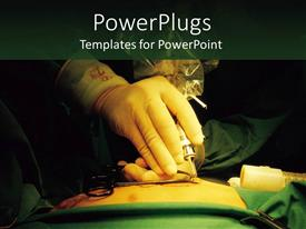 PowerPlugs: PowerPoint template with a depiction of a surgeon checking the patient for operation