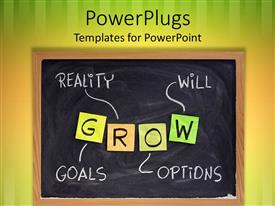 PowerPlugs: PowerPoint template with depiction of various factors helpful in the growth of a person