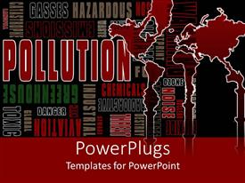 PowerPlugs: PowerPoint template with the depiction of various words along with the map of the world