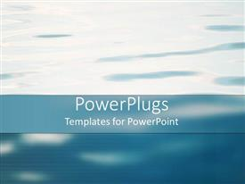 PowerPoint template displaying a depiction off water and clouds mixed with each other