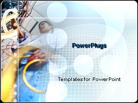 PowerPoint template displaying the depiction of working of an engineer in a picture