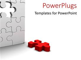 PowerPlugs: PowerPoint template with a number of puzzle pieces together