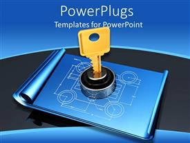 PowerPlugs: PowerPoint template with a design which is locked with the help of a key