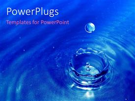 PowerPlugs: PowerPoint template with detail of water drop falling into water surface