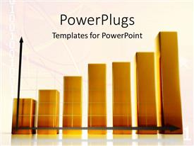 PowerPlugs: PowerPoint template with a diagram of a growth chart