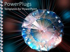 PowerPlugs: PowerPoint template with diamond close-up sparkling with different colors