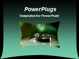 PowerPlugs: PowerPoint template with diamond ring together with a wedding male ring, jewelry