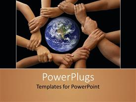 PowerPlugs: PowerPoint template with different colored hands holding each other , a world without racism