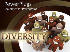PowerPlugs: PowerPoint template with different colored people with big smile on face