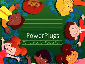 PowerPlugs: PowerPoint template with different kids enjoying with playground in the background