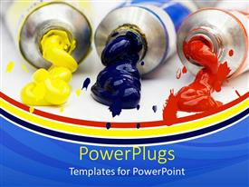 PowerPlugs: PowerPoint template with different paints along with colorful background