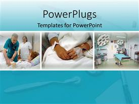 PowerPlugs: PowerPoint template with different patients in the hospital, Hospital different departments