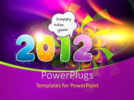 PowerPlugs: PowerPoint template with a digit with purple background with place for text
