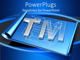 PowerPlugs: PowerPoint template with a digital background with bluish background